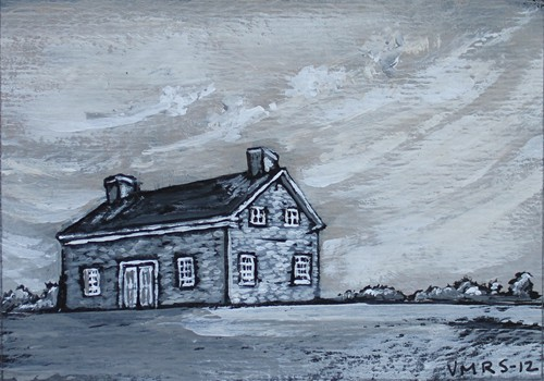schoolhouse©Virginia Spencer, thepurpledogpaintingblog, 2012