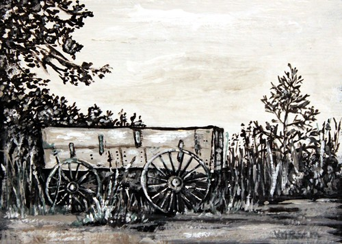 wagon©Virginia Spencer, thepurpledogpaintingblog, 2012
