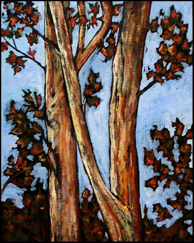 trees©Virginia Spencer, thepurpledogpaintingblog, 2012