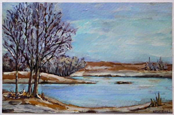 xmas1©Virginia Spencer, thepurpledogpaintingblog, 2012