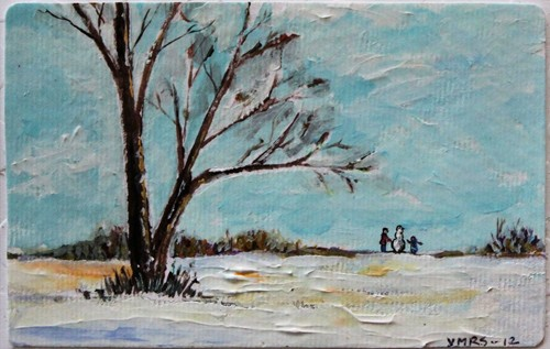 xmas2©Virginia Spencer, thepurpledogpaintingblog, 2012