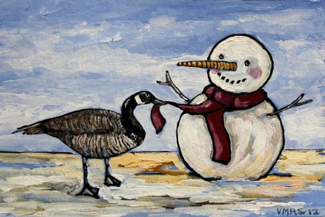 xmas5©Virginia Spencer, thepurpledogpaintingblog, 2012