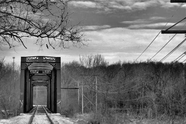 railroadbridge©Virginia Spencer, thepurpledogpaintingblog, 2013