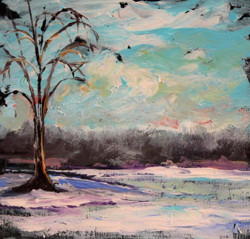 icypond©Virginia Spencer, thepurpledogpaintingblog, 2013