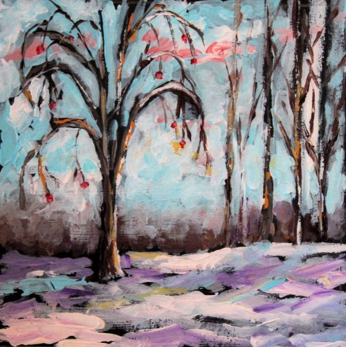 trees©Virginia Spencer, thepurpledogpaintingblog, 2013