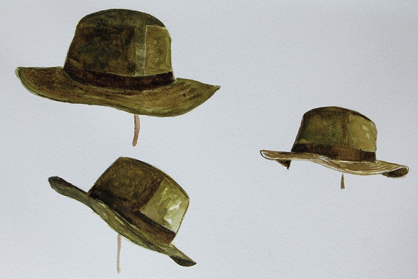 watercolor_study_hats