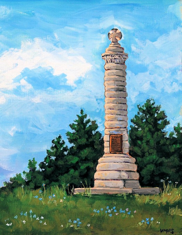 fort erie acrylic monument
