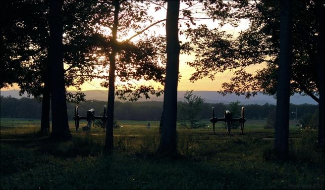 gettysburg sunset cannon memorial