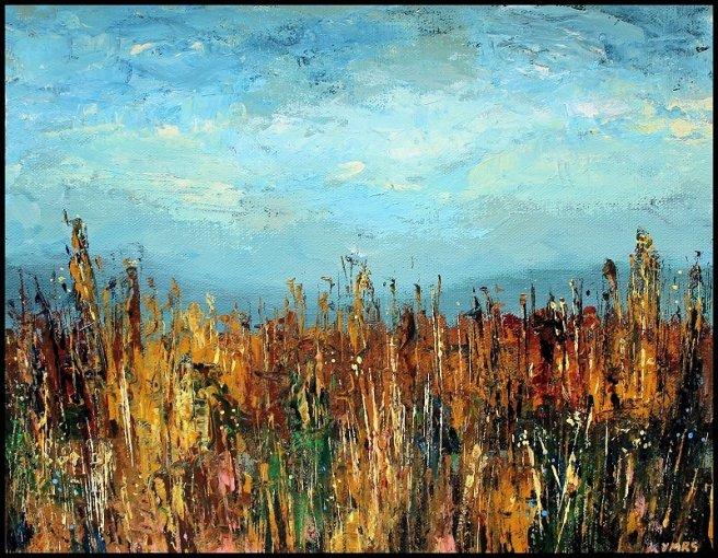 painting wheatfield gettysburg palette knife