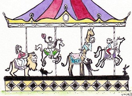 blog carousel summer merry go round