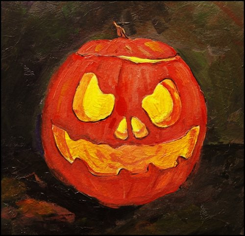 pumpkin-acrylic-painting-art