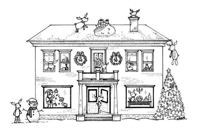 christmas-reindeer-pen-ink
