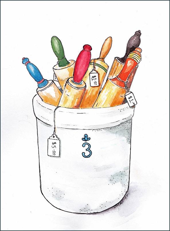 ink watercolor art