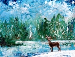 painting acrylic deer